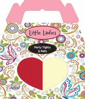 Girls Tights Party 2 Pairs by Little Ladies 3 Boxes