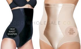 Ladies Firm Control High Waisted Briefs With Satin Panel by Beauforme
