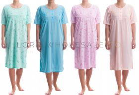 Cotton Rich Jersey Short Sleeved Nightdresses by Romesa/Lucky 10 pieces