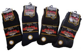 Mens 2.1 Tog Thermal Lambs Wool Blend Boot Socks 6-11