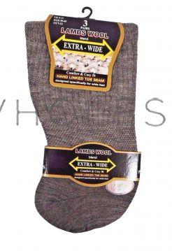 SE087 Extra Wide Diabetic Lamswool Sock