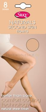 Naturals 8 Denier Second Skin Tights by Silky 6 pairs