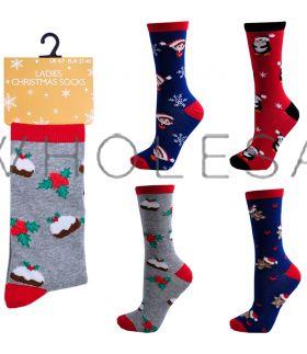 SK254 Ladies Christmas Novelty Socks