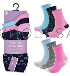 SK514 Heart and Spot Socks by Foxbury