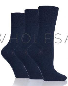 DIABETIC Ladies Navy Gentle Grip Socks by Sock Shop
