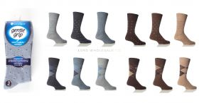 SOMRB96LHT Big Foot Light Patterned Gentle grip Socks