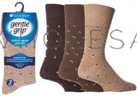 SOMRJ20 Men's Suit Browns Gentle Grip Socks