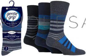 SOMRJ566H3 Men's Linear Vision Gentle Grip Socks