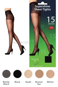 Pretty Legs Super Shine Tights with Lycra S/M