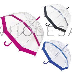 UU0044C Clear Dome Umbrellas