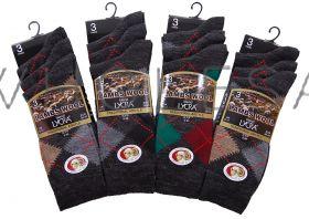 Mens Argyle Lambs Wool Blend Socks